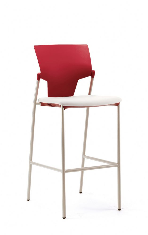 Pledge Ikon High Chair With Upholstered Seat And Plastic Back With No Arms